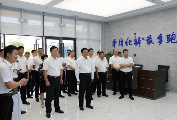 蔡邦银率队赴台州市路桥区、天台县考察学习